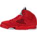 Left view of Boys' Preschool Jordan 5 Retro Basketball Shoes in University Red/Black