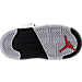 Bottom view of Boys' Toddler Jordan Retro 5 Basketball Shoes in White/University Red/Black/Matte Silver
