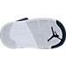 Bottom view of Boys' Toddler Air Jordan Retro 5 Basketball Shoes in Obsidian/White/Metallic Red Bronze