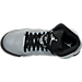 Top view of Girls' Grade School Air Jordan Retro 5 Basketball Shoes in Wolf Grey/Black