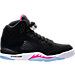 Right view of Girls' Grade School Air Jordan Retro 5 (3.5y-9.5y) Basketball Shoes in Black/Deadly Pink/White