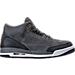 Right view of Girls' Grade School Air Jordan Retro 3 (3.5y - 9.5y) Basketball Shoes in Anthracite/Metallic Red Bronze/White