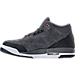 Left view of Girls' Grade School Air Jordan Retro 3 (3.5y - 9.5y) Basketball Shoes in Anthracite/Metallic Red Bronze/White