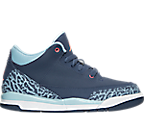 Girls' Preschool Jordan Retro 3 Basketball Shoes