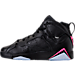 Left view of Girls' Grade School Air Jordan Retro 7 (3.5y-9.5y) Basketball Shoes in Black/Hyper Pink