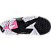 Bottom view of Girls' Preschool Jordan Retro 7 Basketball Shoes in Black/Vivid Pink