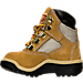 Left view of Boys' Toddler Timberland 6 Inch Field Boots in Wheat