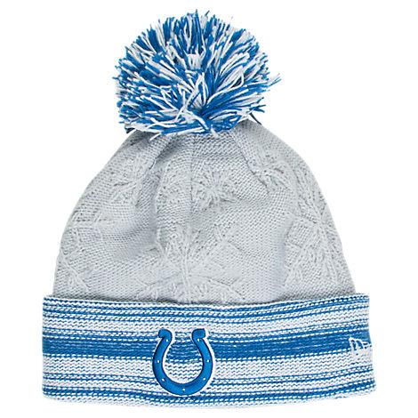 Women's New Era Indianapolis Colts NFL Snow Crown Redux Knit Hat