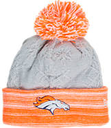 Women's New Era Denver Broncos NFL Snow Crown Redux Knit Hat