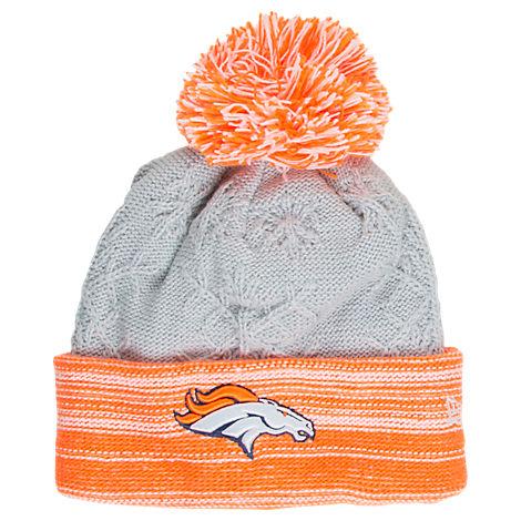 Women's New Era Denver Broncos NFL Snow Crown Redux Knit Hat