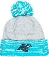 Women's New Era Carolina Panthers NFL Snow Crown Redux Knit Hat