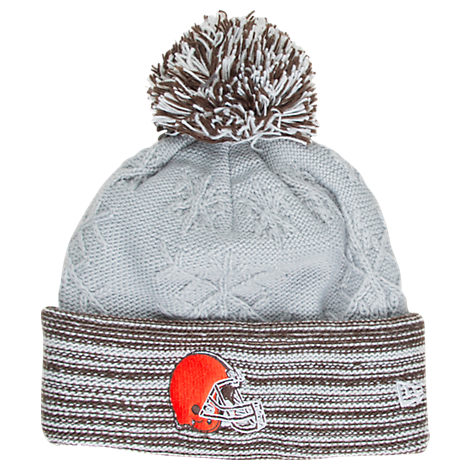 Women's New Era Cleveland Browns NFL Snow Crown Redux Knit Hat