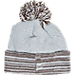 Back view of Women's New Era Cleveland Browns NFL Snow Crown Redux Knit Hat in Gray