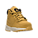 Three Quarter view of Boys' Toddler Nike Manoa Leather Boots in Wheat