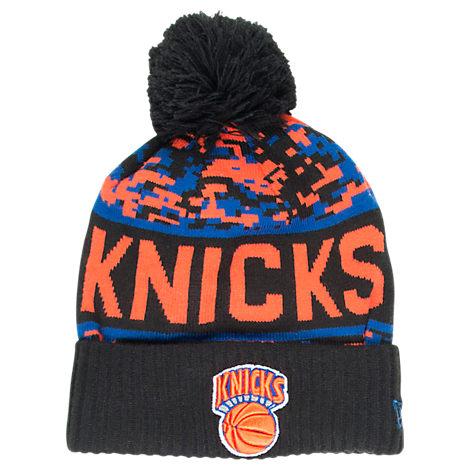 New Era New York Knicks NBA Winter Freeze Pom Cuffed Knit Hat