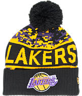 New Era Los Angeles Lakers NBA Winter Freeze Pom Cuffed Knit Hat