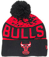 New Era Chicago Bulls NBA Winter Freeze Pom Cuffed Knit Hat