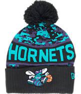 New Era Charlotte Hornets NBA  Winter Freeze Pom Cuffed Knit Hat