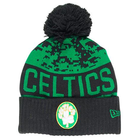 New Era Boston Celtics NBA Winter Freeze Pom Cuffed Knit Hat