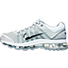 Left view of Men's Nike Air Max+ 2009 Running Shoes in White/Black