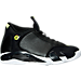 Right view of Men's Air Jordan Retro 14 Basketball Shoes in Black/White/Vivid Green