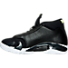 Left view of Men's Air Jordan Retro 14 Basketball Shoes in Black/White/Vivid Green