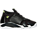 Right view of Boys' Grade School Air Jordan Retro 14 Basketball Shoes in Black/White/Vivid Green