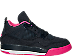 Girls' Preschool Air Jordan Retro 4 Basketball Shoes