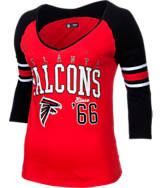 Women's New Era Atlanta Falcons NFL 3/4 Baby Raglan Jersey T-Shirt