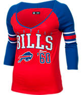 Women's New Era Buffalo Bills NFL 3/4 Baby Raglan Jersey T-Shirt