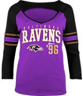 Women's New Era Baltimore Ravens NFL 3/4 Baby Raglan Jersey T-Shirt