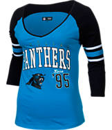 Women's New Era Carolina Panthers NFL 3/4 Baby Raglan Jersey T-Shirt
