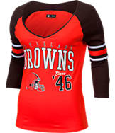 Women's New Era Cleveland Browns NFL 3/4 Baby Raglan Jersey T-Shirt