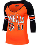 Women's New Era Cincinnati Bengals NFL 3/4 Baby Raglan Jersey T-Shirt
