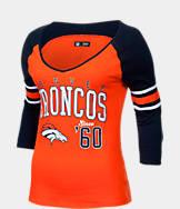 Women's New Era Denver Broncos NFL 3/4 Baby Jersey Raglan T-Shirt