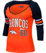 Women's New Era Denver Broncos NFL 3/4 Baby Raglan Jersey T-Shirt