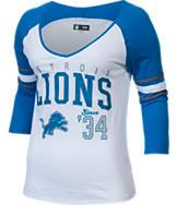 Women's New Era Detroit Lions NFL 3/4 Baby Raglan Jersey T-Shirt