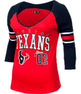 Women's New Era Houston Texans NFL 3/4 Baby Raglan Jersey T-Shirt
