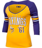 Women's New Era Minnesota Vikings NFL 3/4 Baby Jersey Raglan T-Shirt