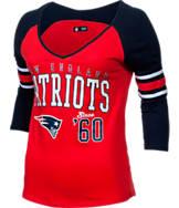 Women's New Era New England Patriots NFL 3/4 Baby Raglan Jersey T-Shirt