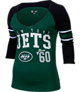 Women's New Era New York Jets NFL 3/4 Baby Raglan Jersey T-Shirt