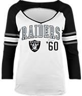 Women's New Era Oakland Raiders NFL 3/4 Baby Raglan Jersey T-Shirt