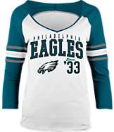 Women's New Era Philadelphia Eagles NFL 3/4 Baby Raglan Jersey T-Shirt