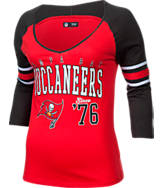 Women's New Era Tampa Bay Buccaneers NFL 3/4 Baby Raglan Jersey T-Shirt