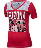 Women's New Era Arizona Cardinals NFL Short Sleeve Crossover V-Neck T-Shirt