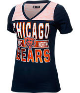 Women's New Era Chicago Bears NFL Short Sleeve Crossover V-Neck T-Shirt