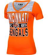 Women's New Era Cincinnati Bengals NFL Short Sleeve Crossover V-Neck T-Shirt