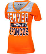 Women's New Era Denver Broncos NFL Short Sleeve Crossover V-Neck T-Shirt