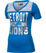 Women's New Era Detroit Lions NFL Short Sleeve Crossover V-Neck T-Shirt