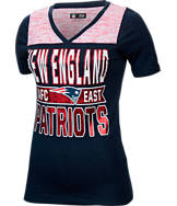 Women's New Era New England Patriots NFL Short Sleeve Crossover V-Neck T-Shirt